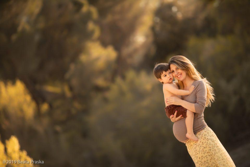 fotografia de embarazo en exteriores