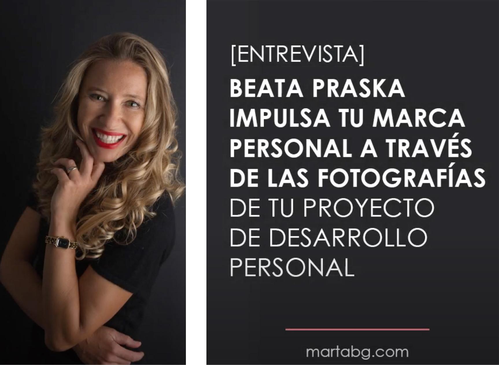 entrevista con Beata Praska sobre la importancia de fotografia de marca personal