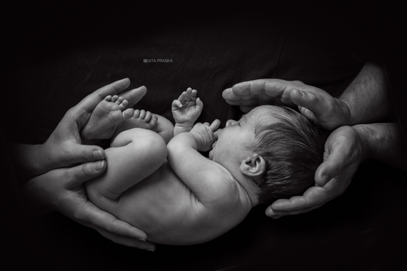 black and white newborn