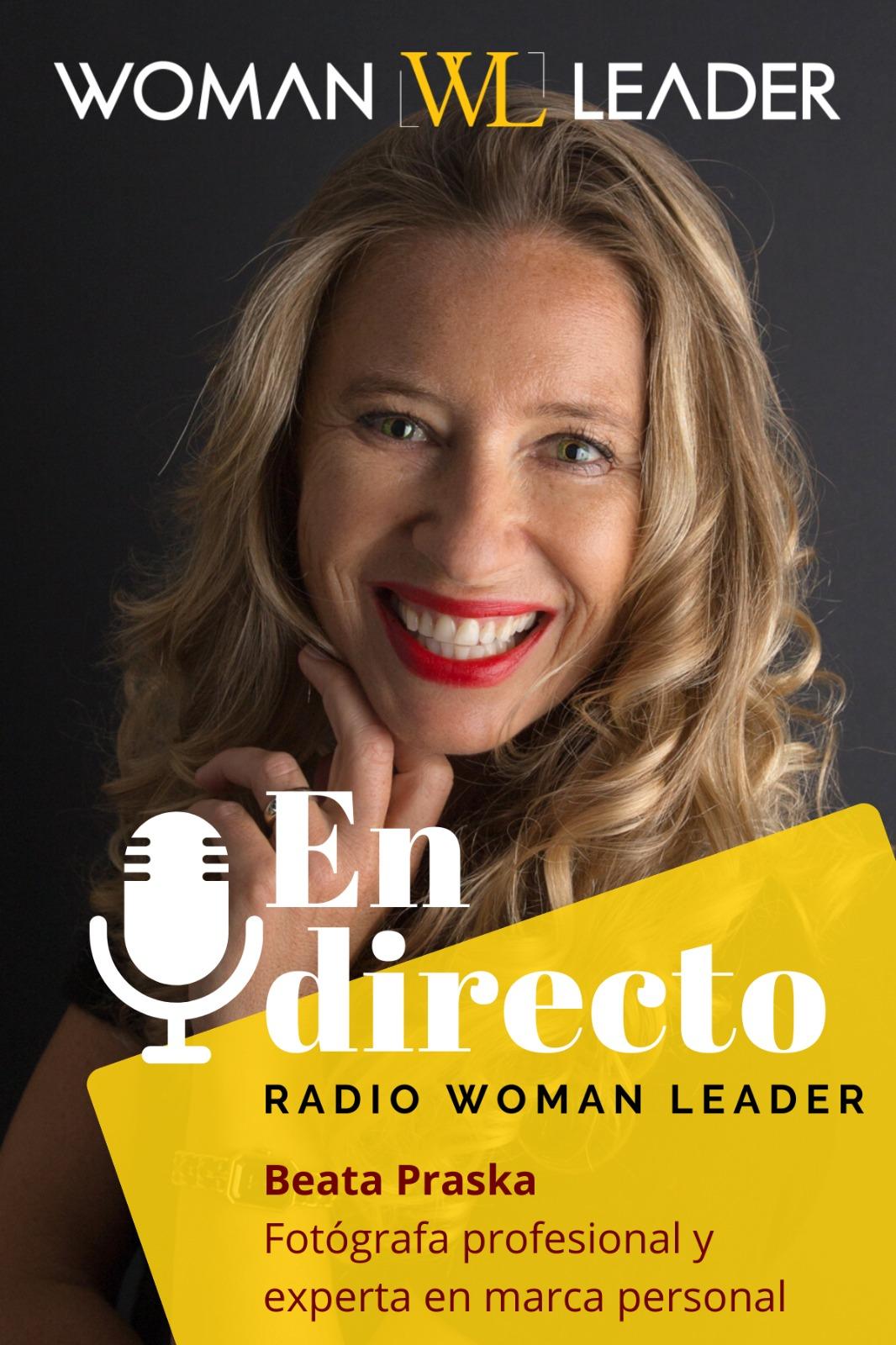 foto de Beata Praska y su entrevista en Radio Libertad con Woman Leader Org
