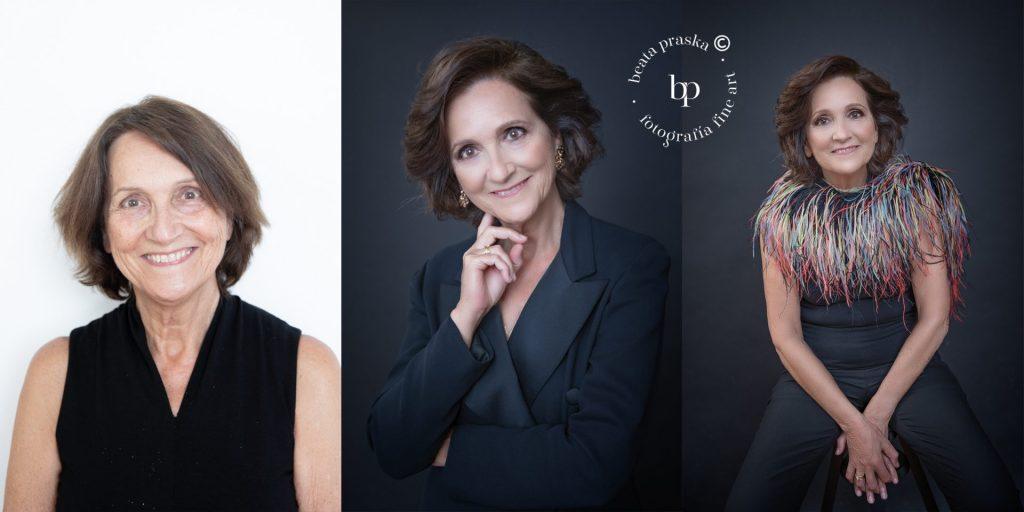 transformacion de una mujer en sesion fotografica