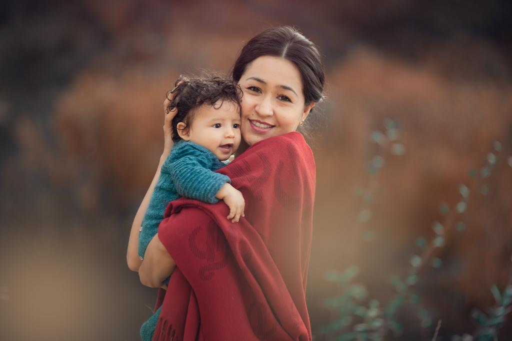 fotografia de mama y bebe