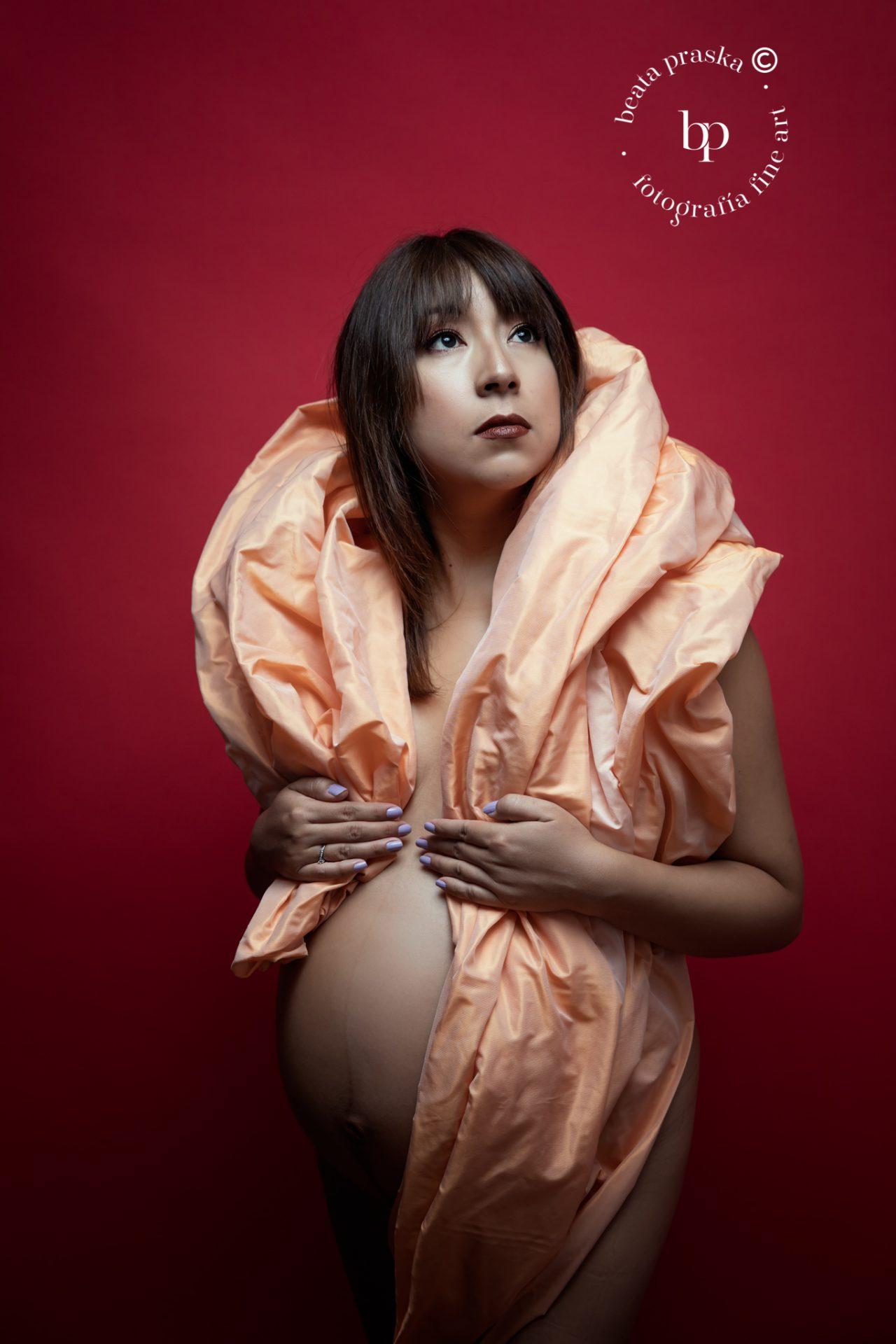 fotografia de embarazo elegante