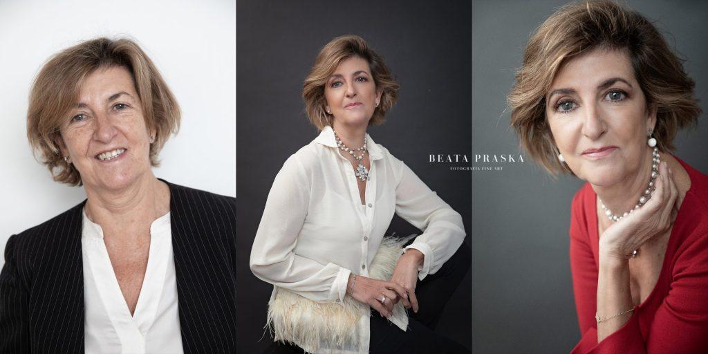 transformacion de mujer en una sesion de fotos con Beata Praska