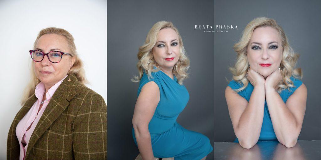 una mujer madura fotografiada en estudio de Beata Praska en madrid